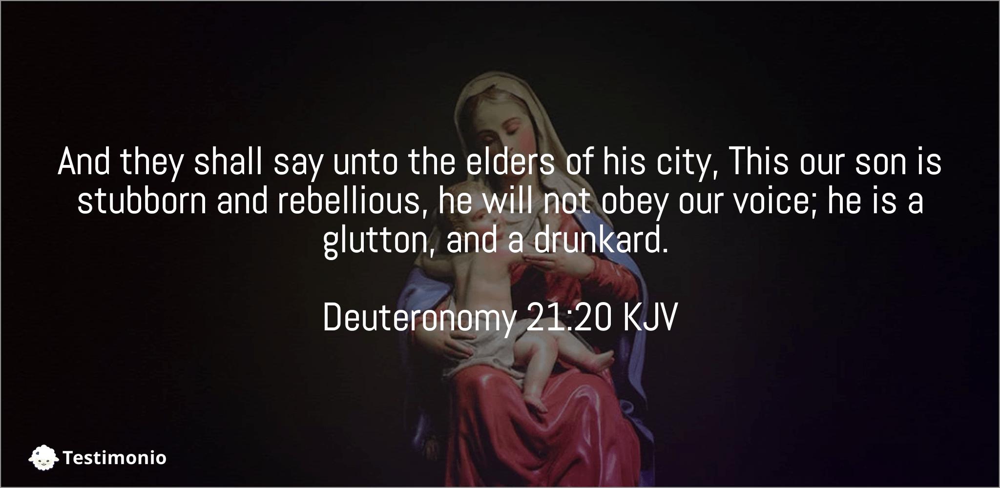 Deuteronomy 21:20