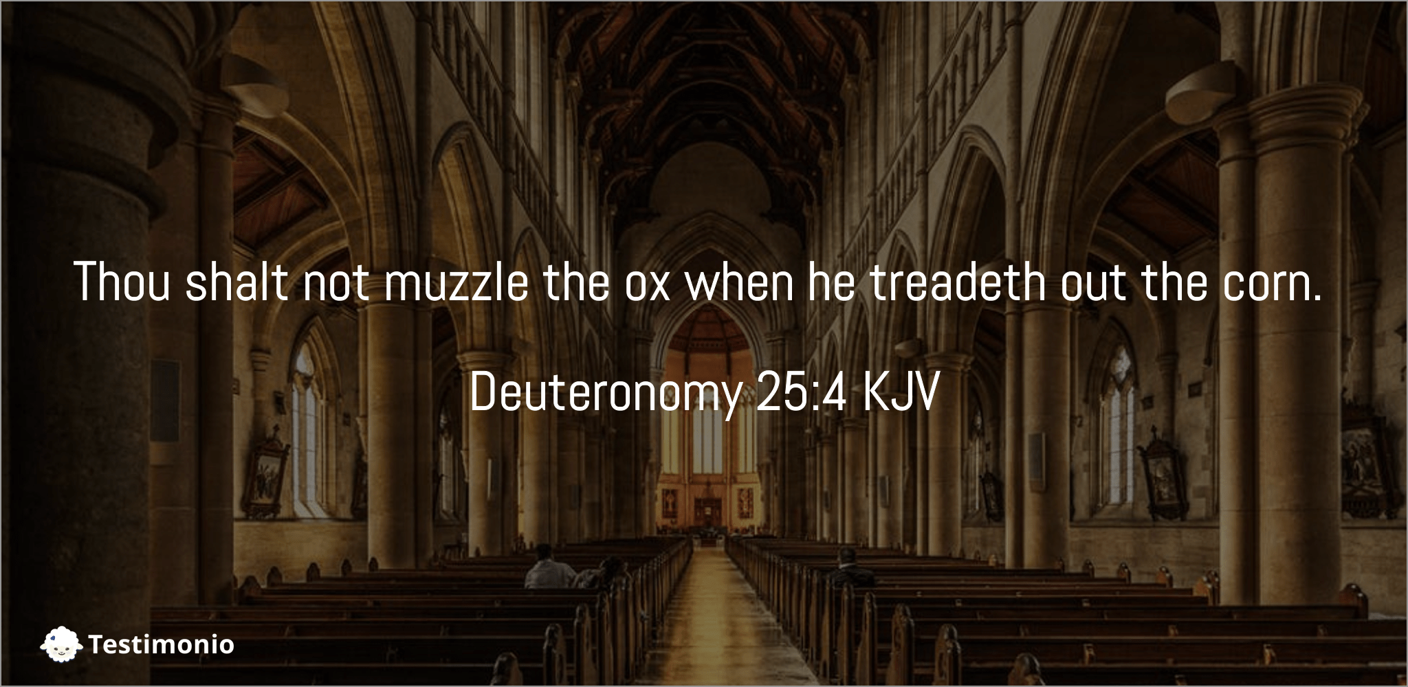 Deuteronomy 25:4