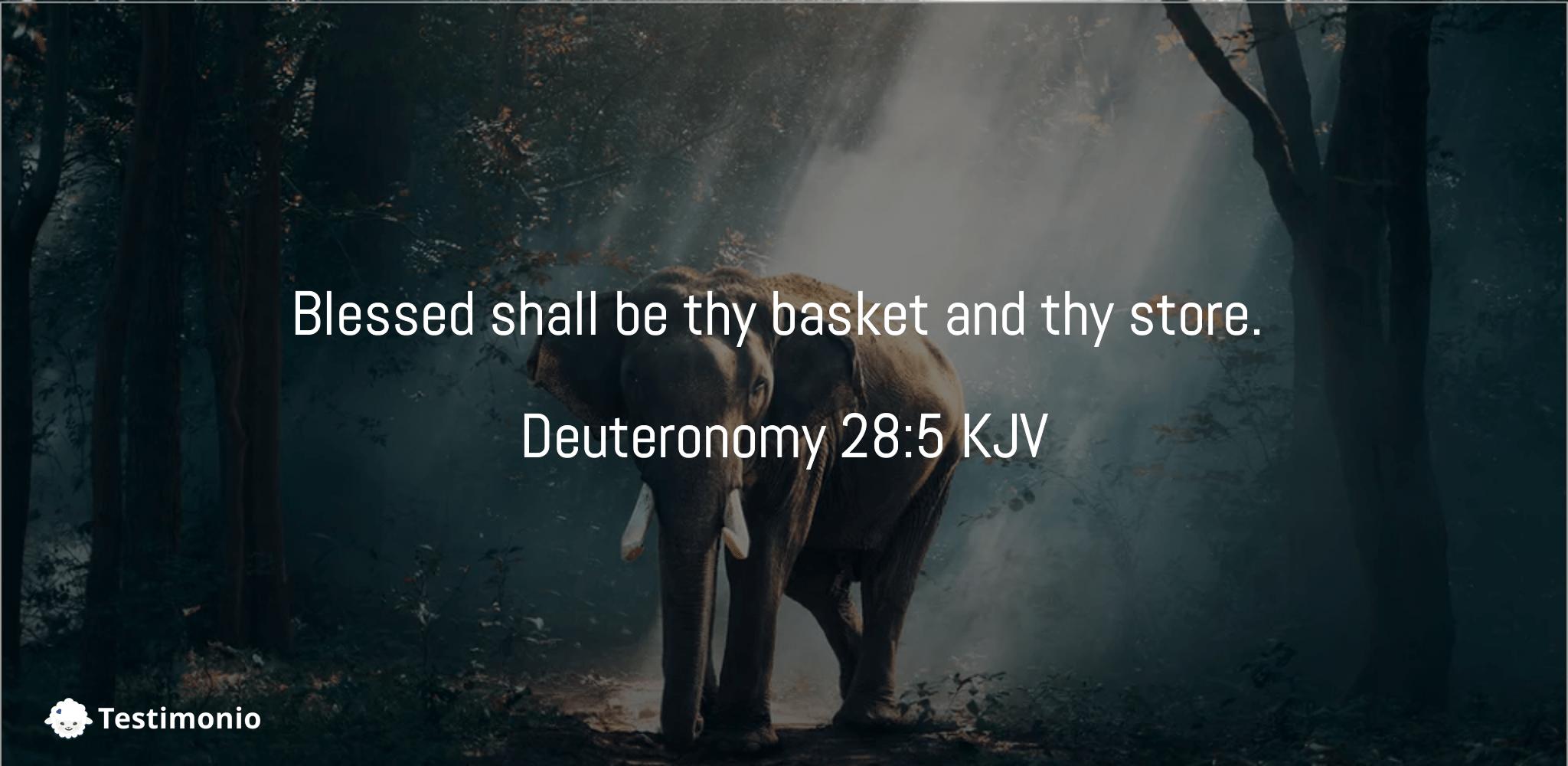 Deuteronomy 28:1-5