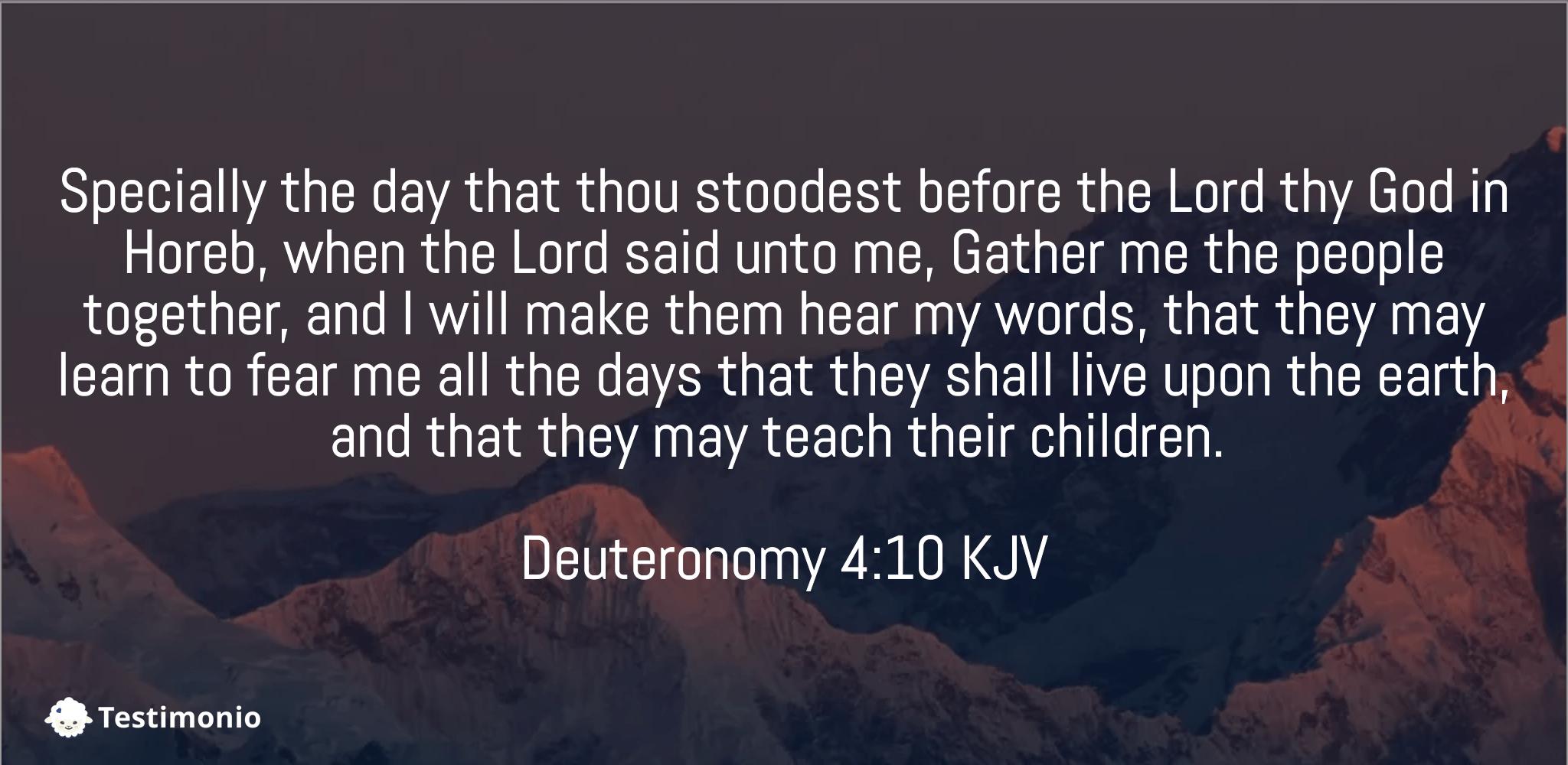 Deuteronomy 4:10