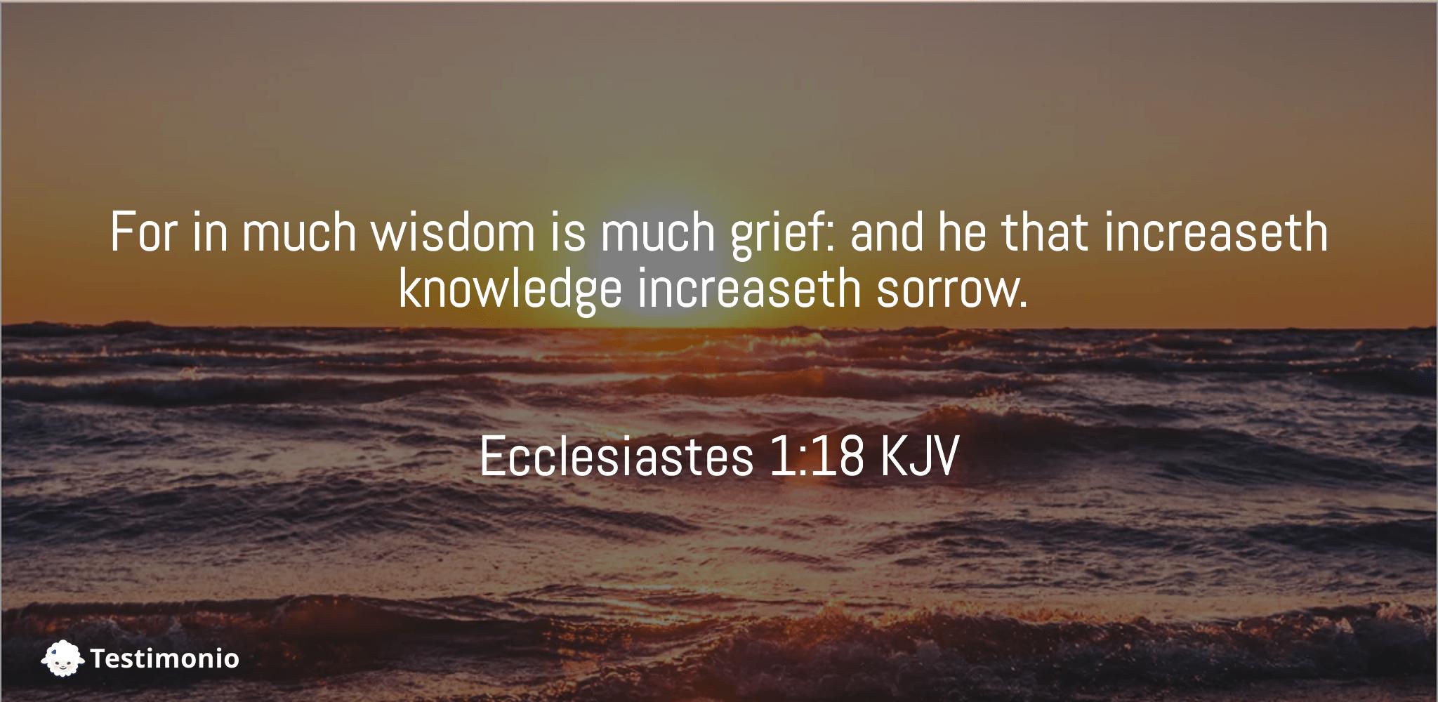 Ecclesiastes 1:18