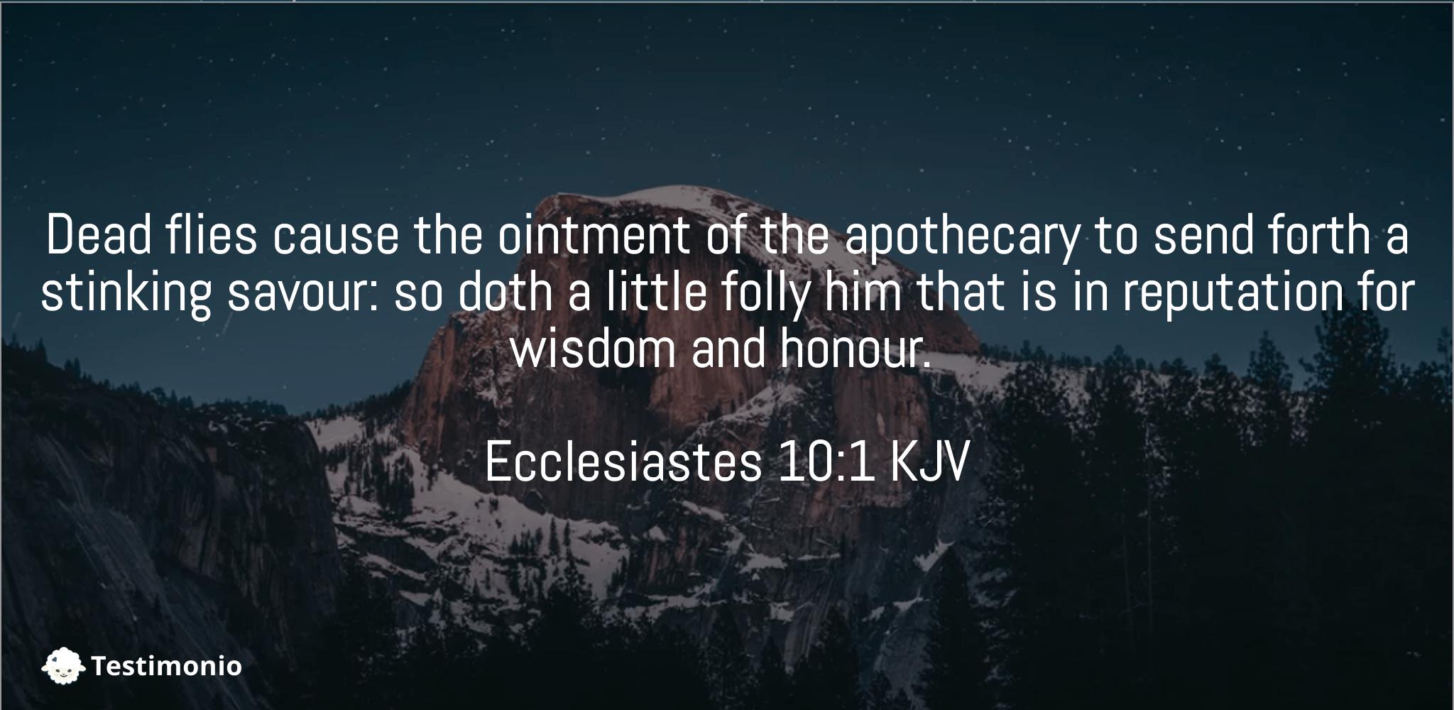 Ecclesiastes 10:1