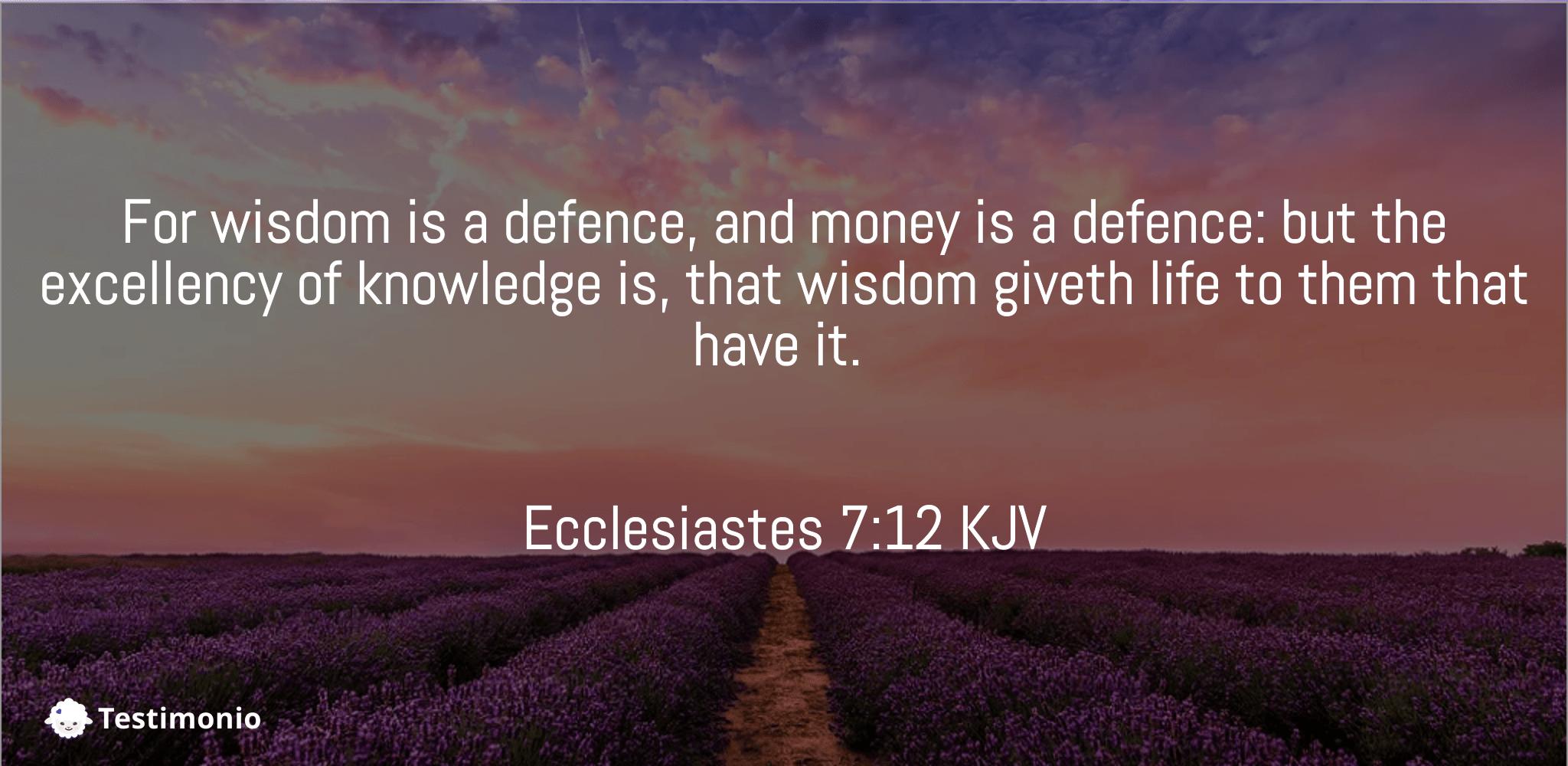 Ecclesiastes 7:12