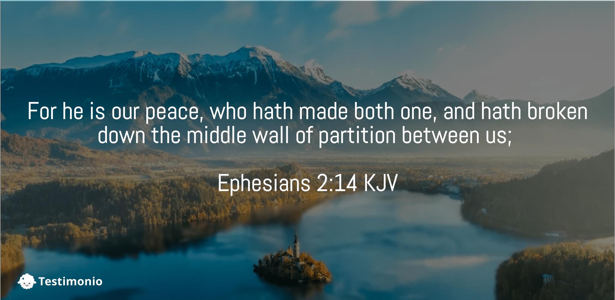 Ephesians 2:14