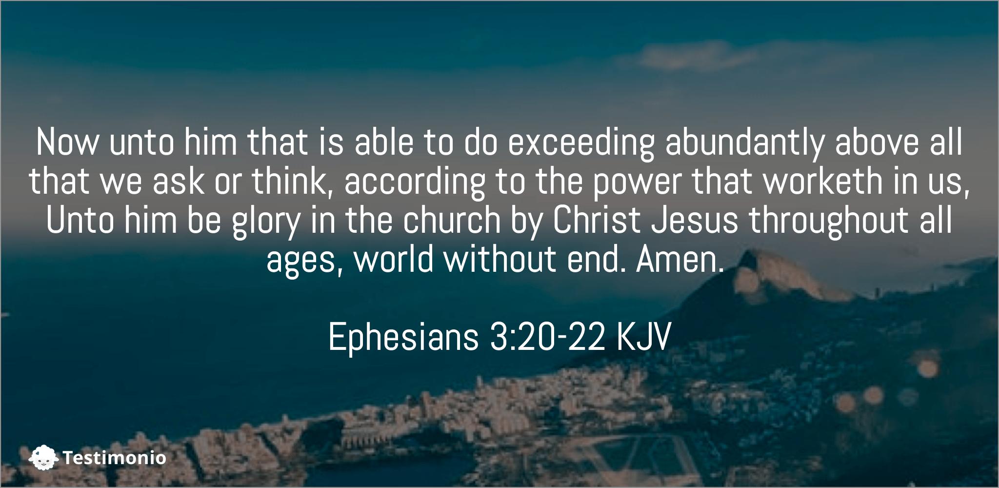 Ephesians 3:20-22