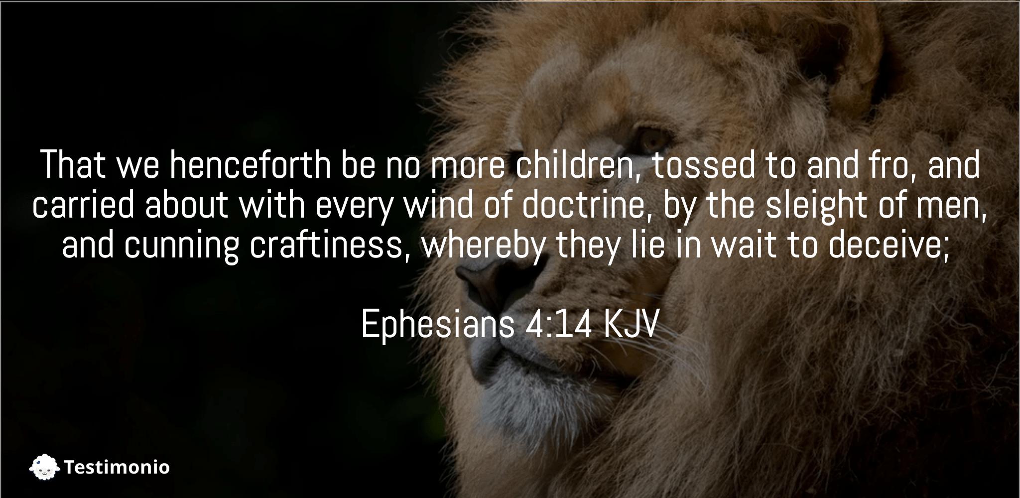 Ephesians 4:14