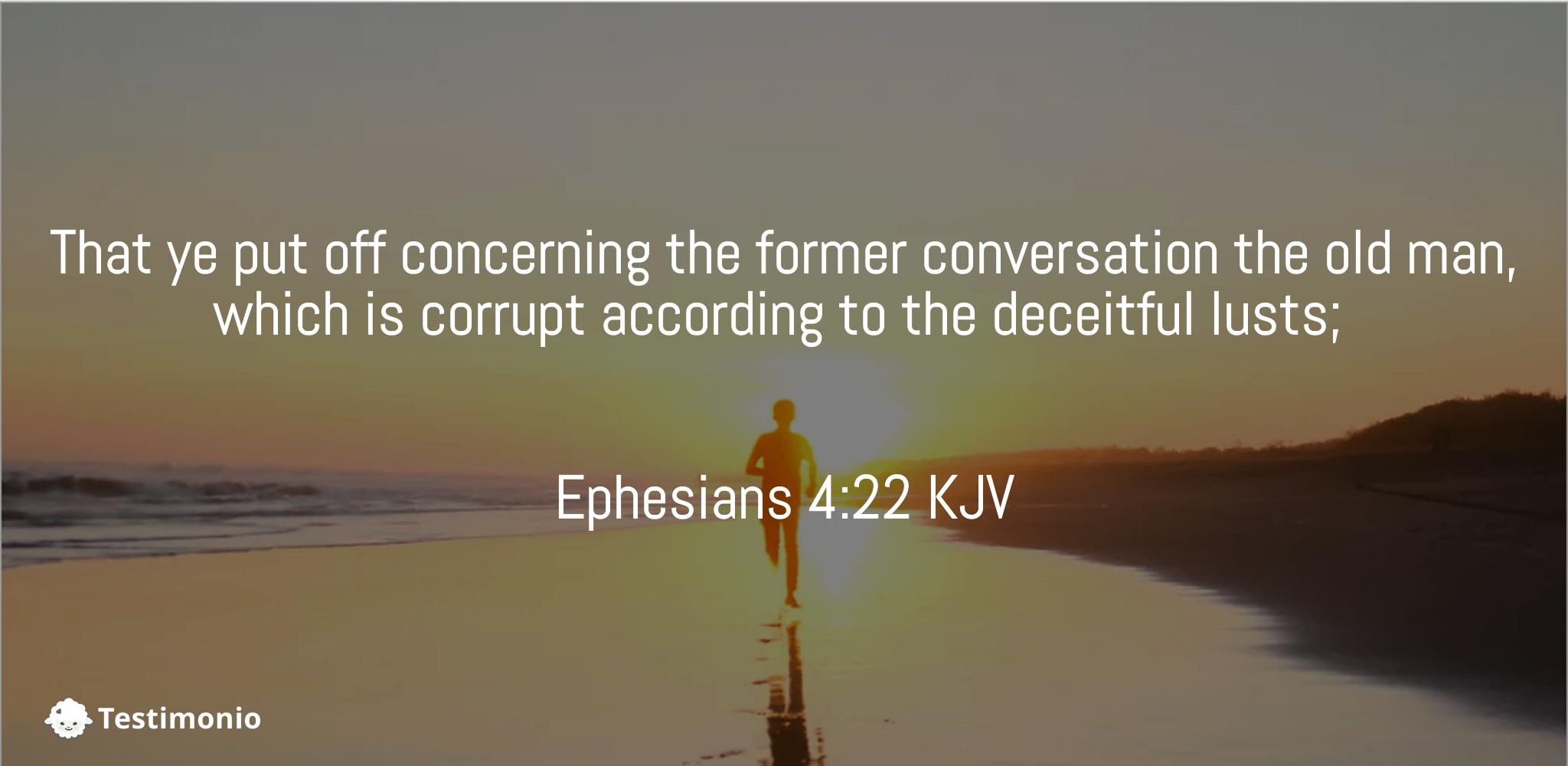 Ephesians 4:22