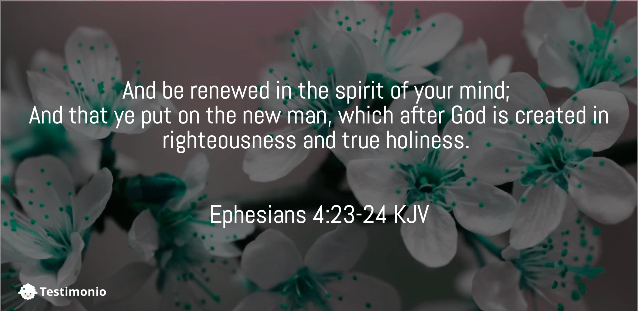 Ephesians 4:23-24