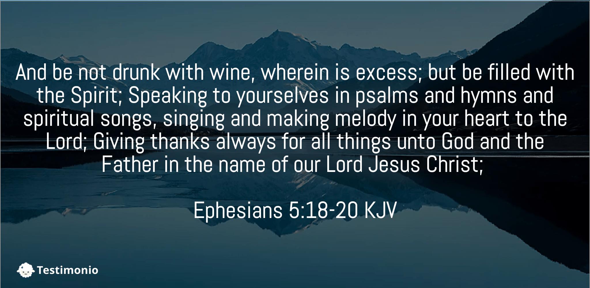 Ephesians 5:18-20