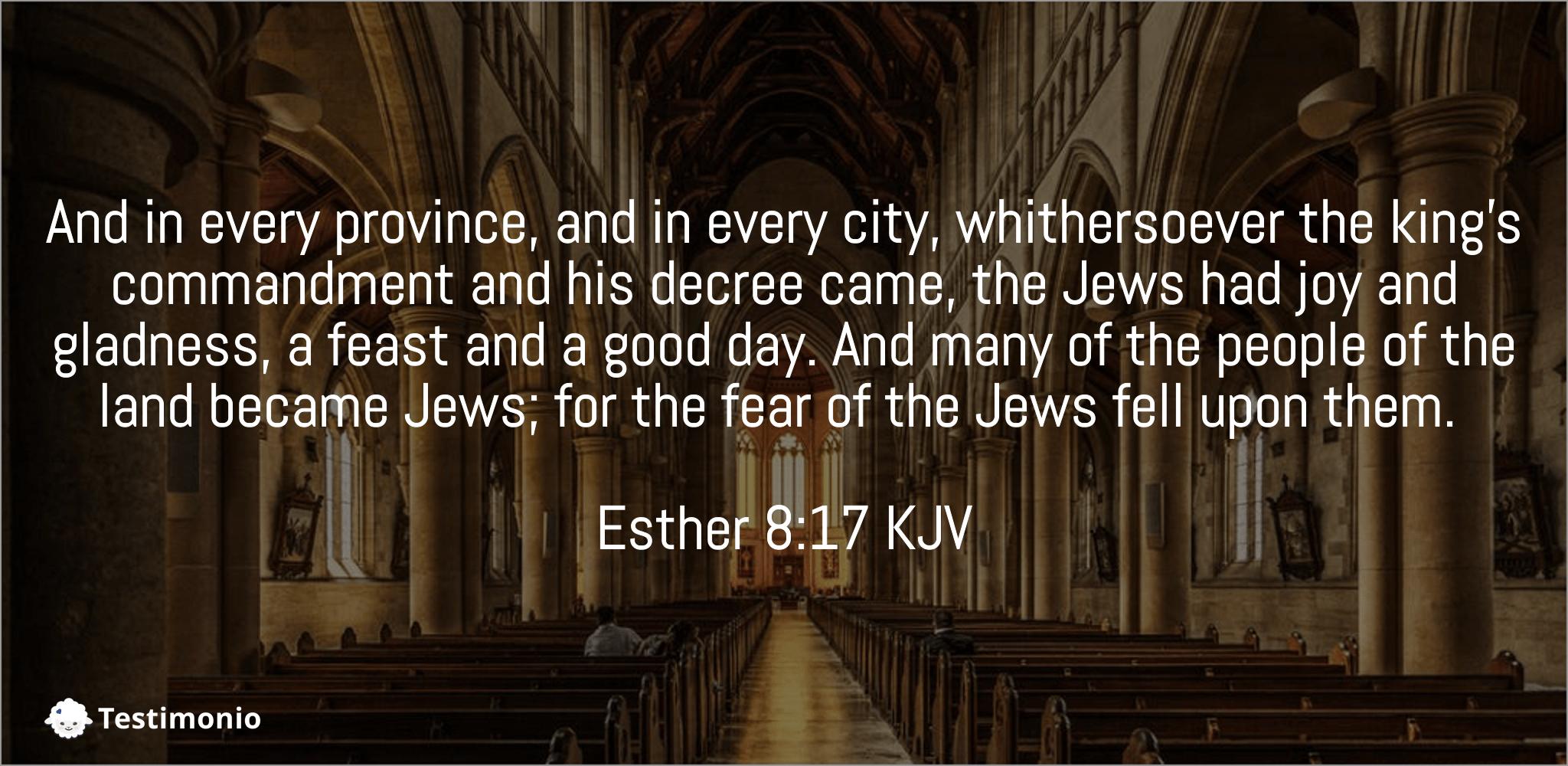 Esther 8:17