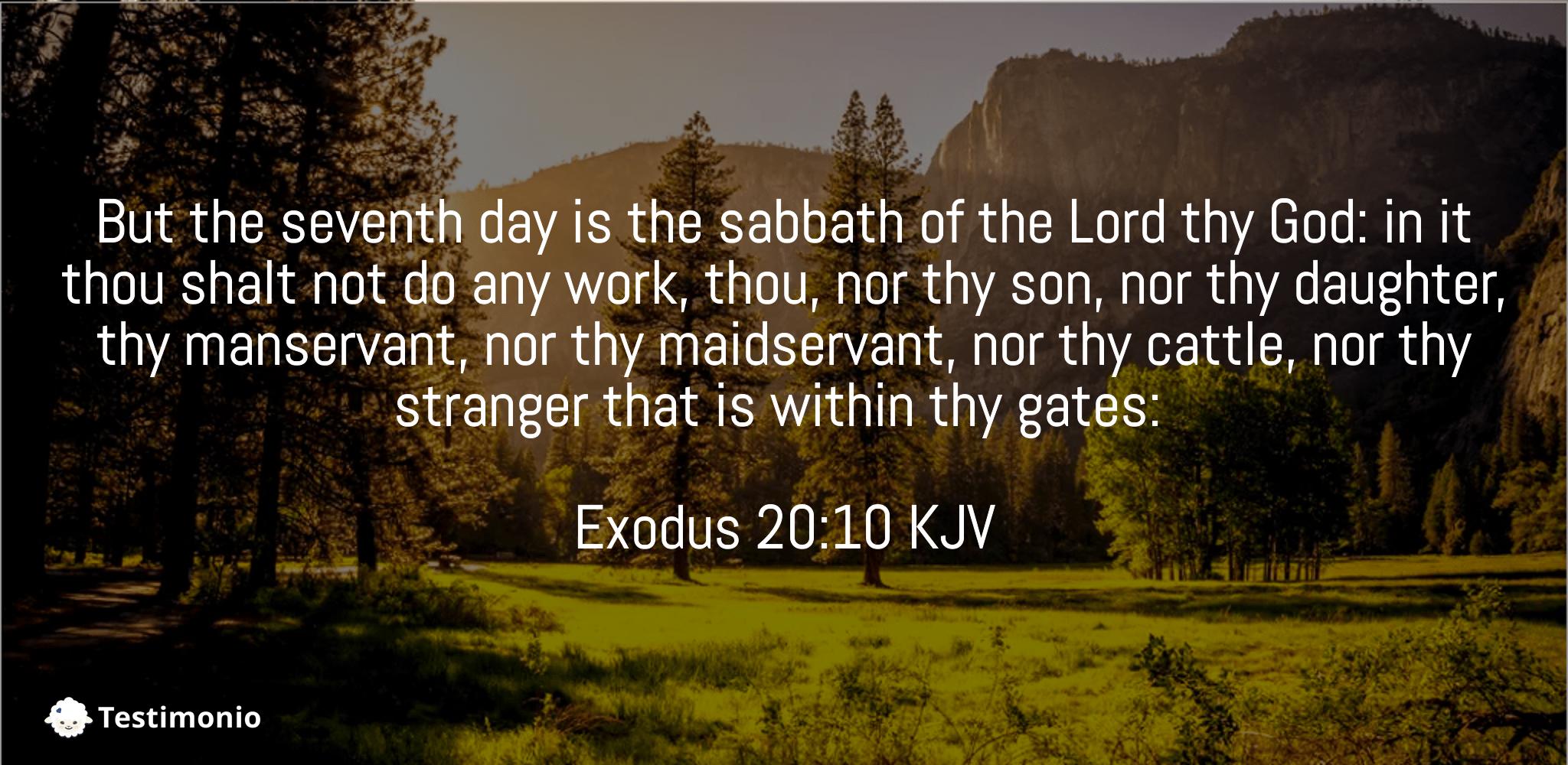 Exodus 20:10