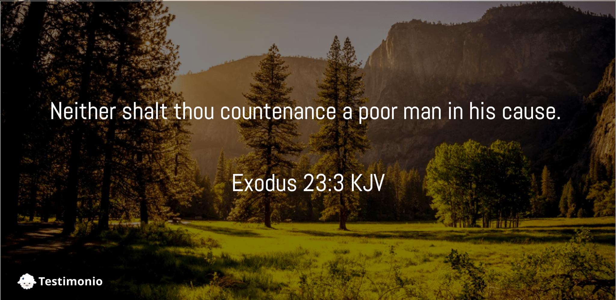 Exodus 23:3