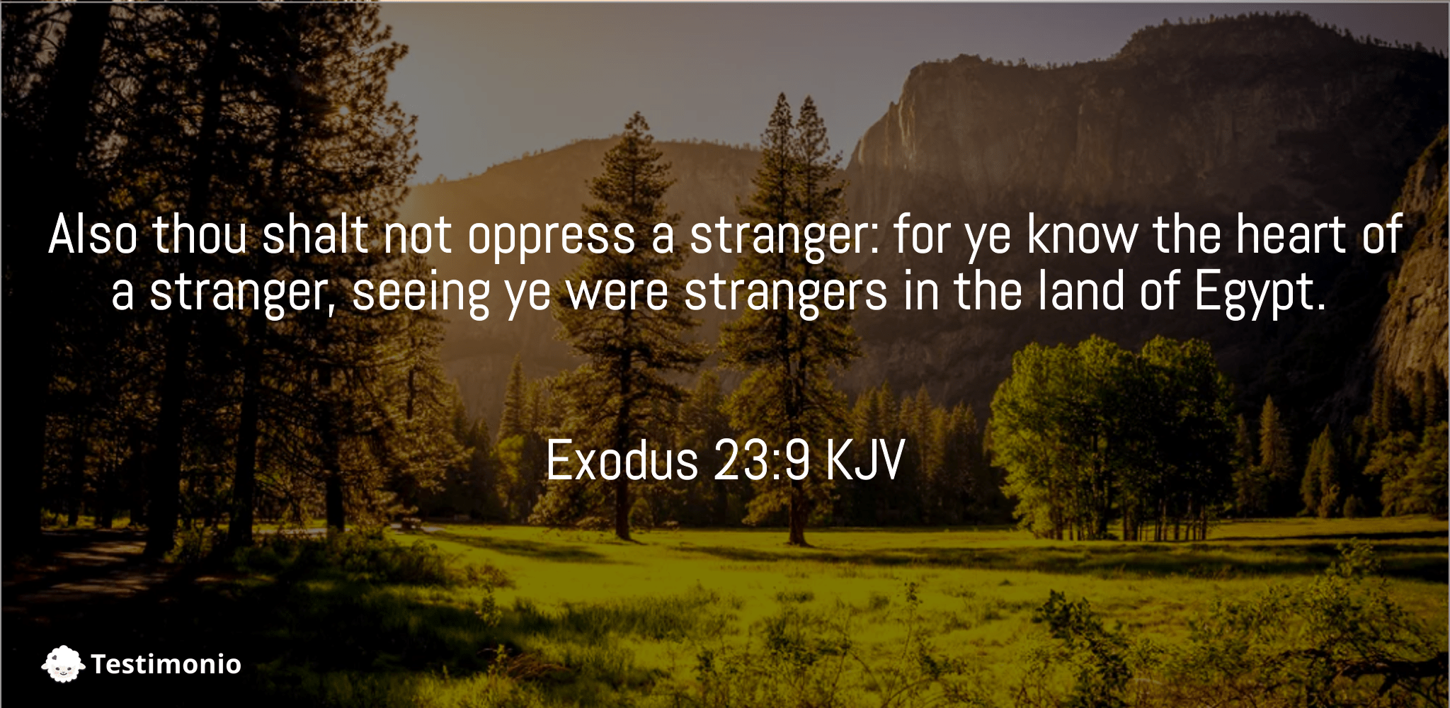 Exodus 23:9
