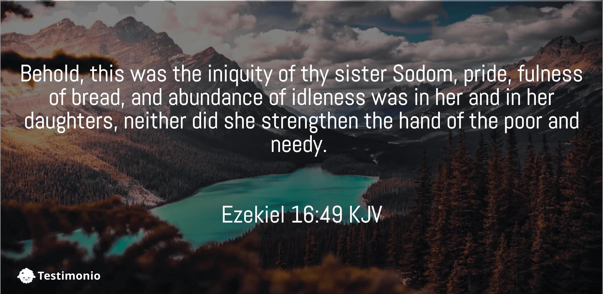 Ezekiel 16:49