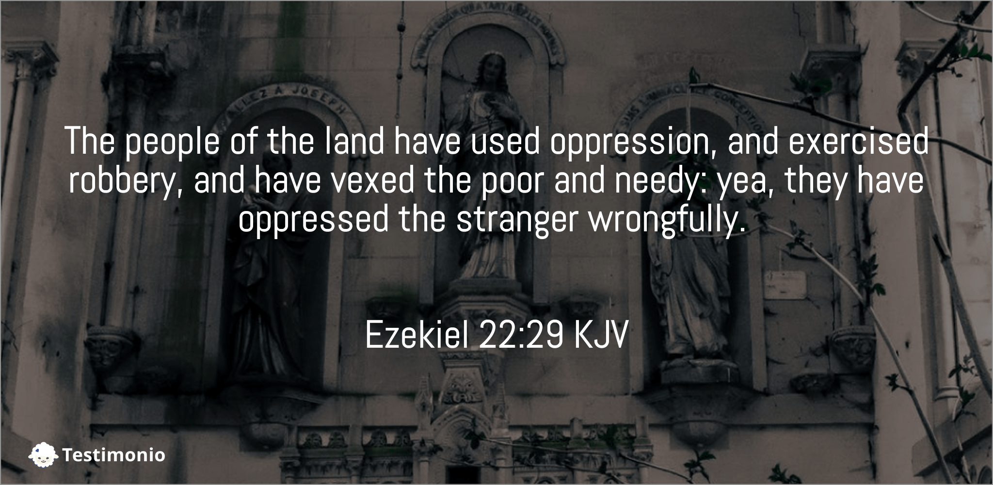Ezekiel 22:29