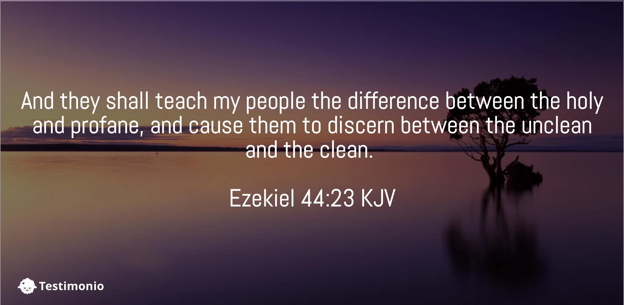 Ezekiel 44:23