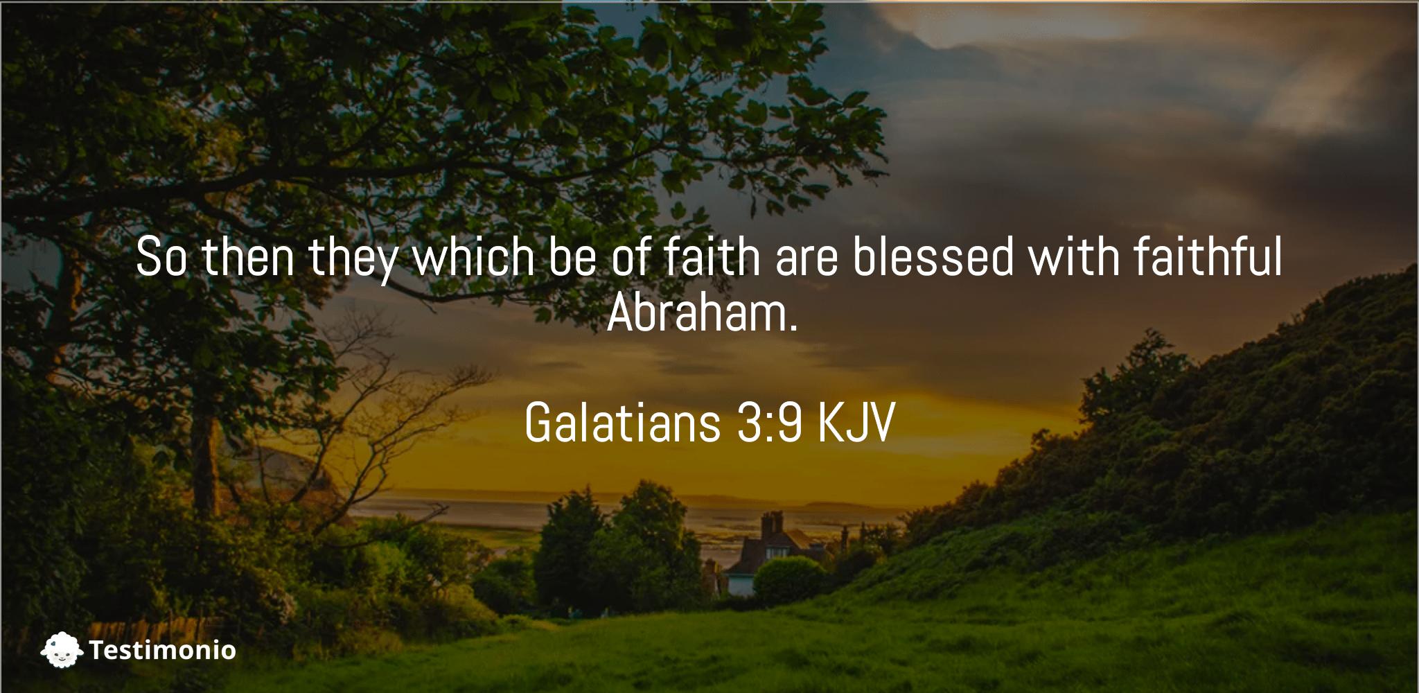Galatians 3:9