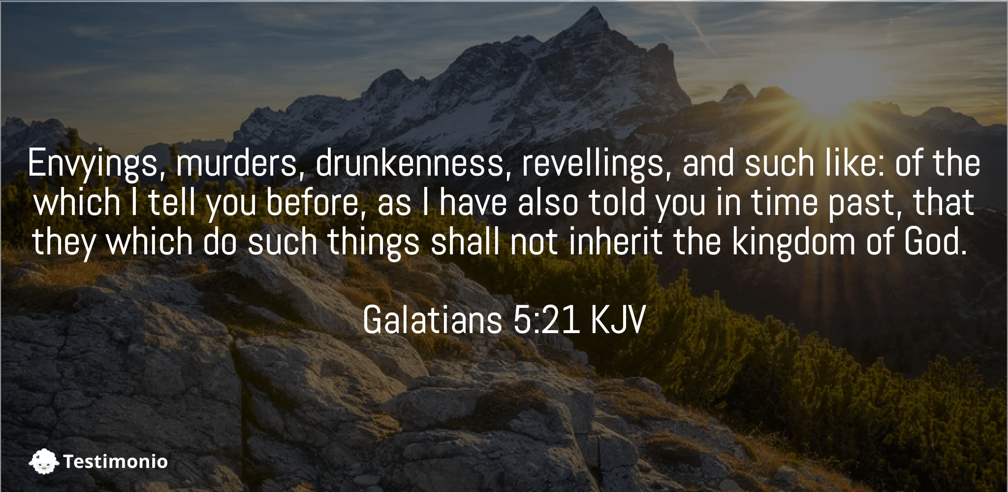 Galatians 5:21
