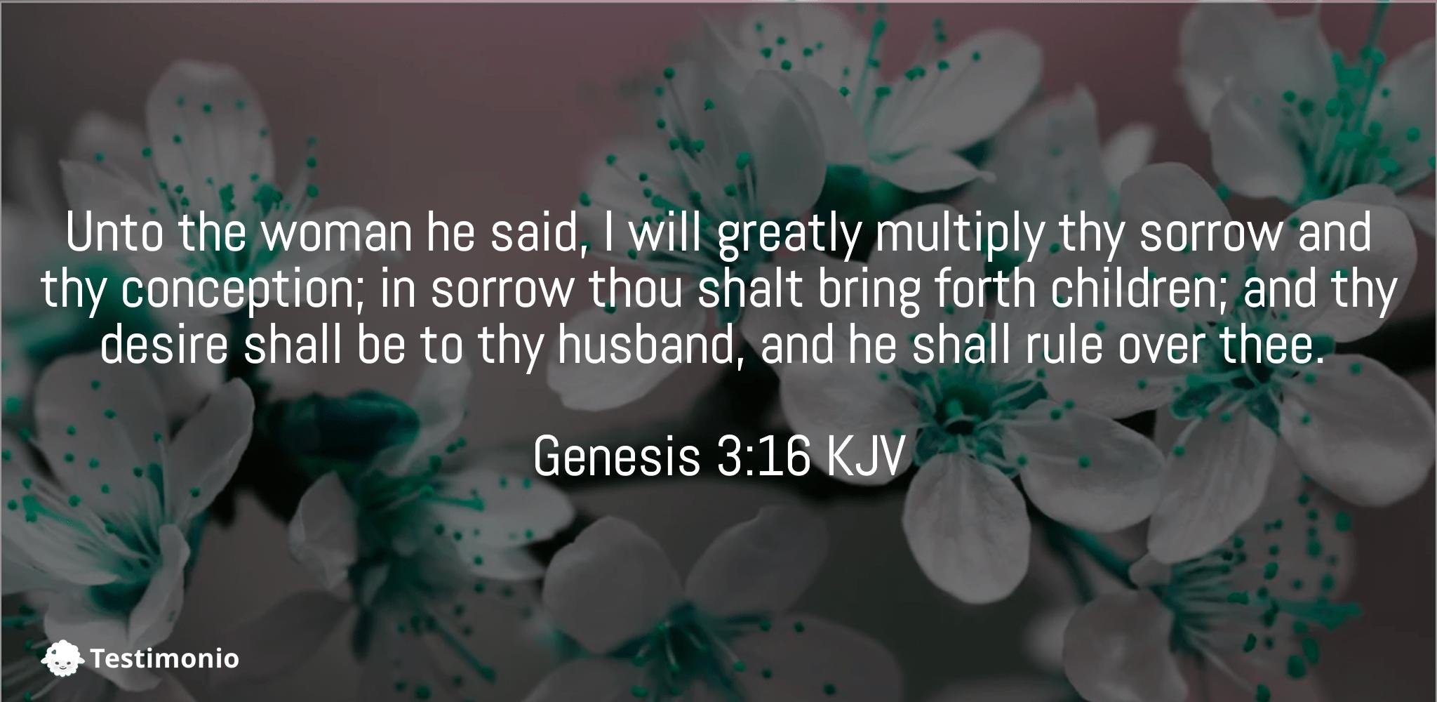 Genesis 3:16