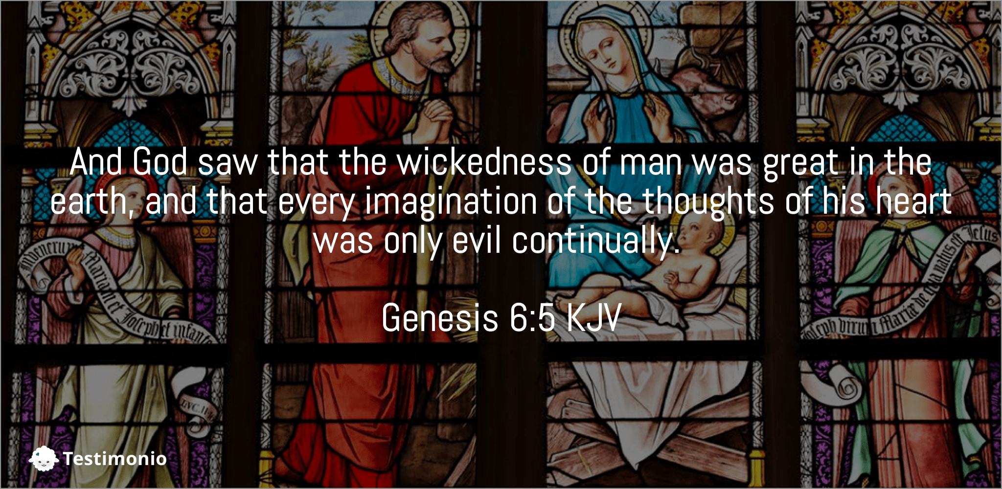 Genesis 6:5