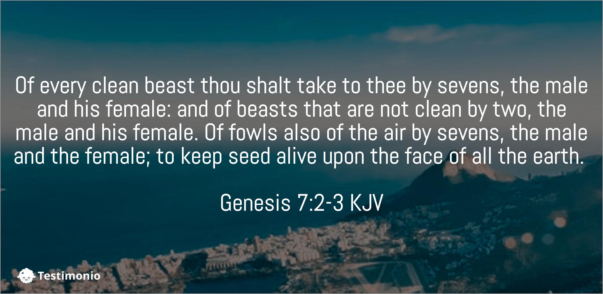 Genesis 7:2-3