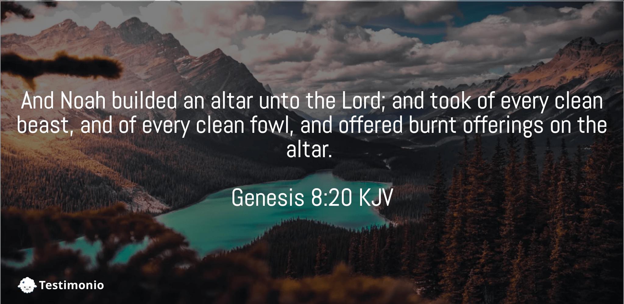 Genesis 8:20