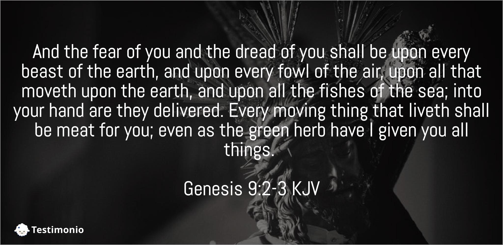 Genesis 9:2-3