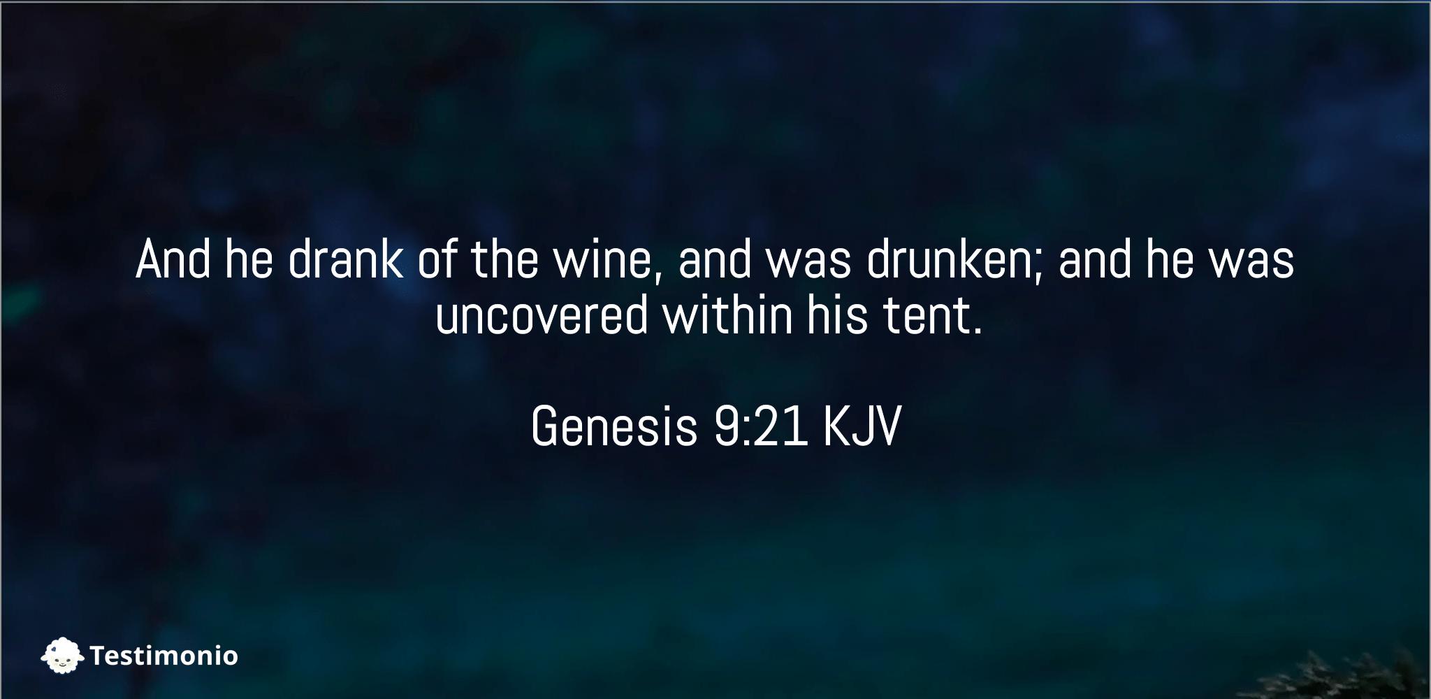 Genesis 9:21