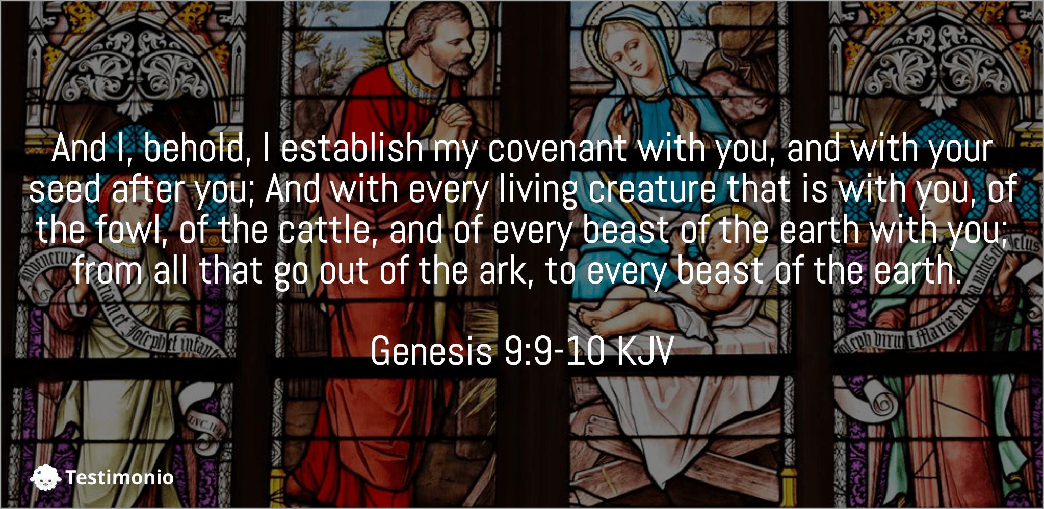 Genesis 9:9-10
