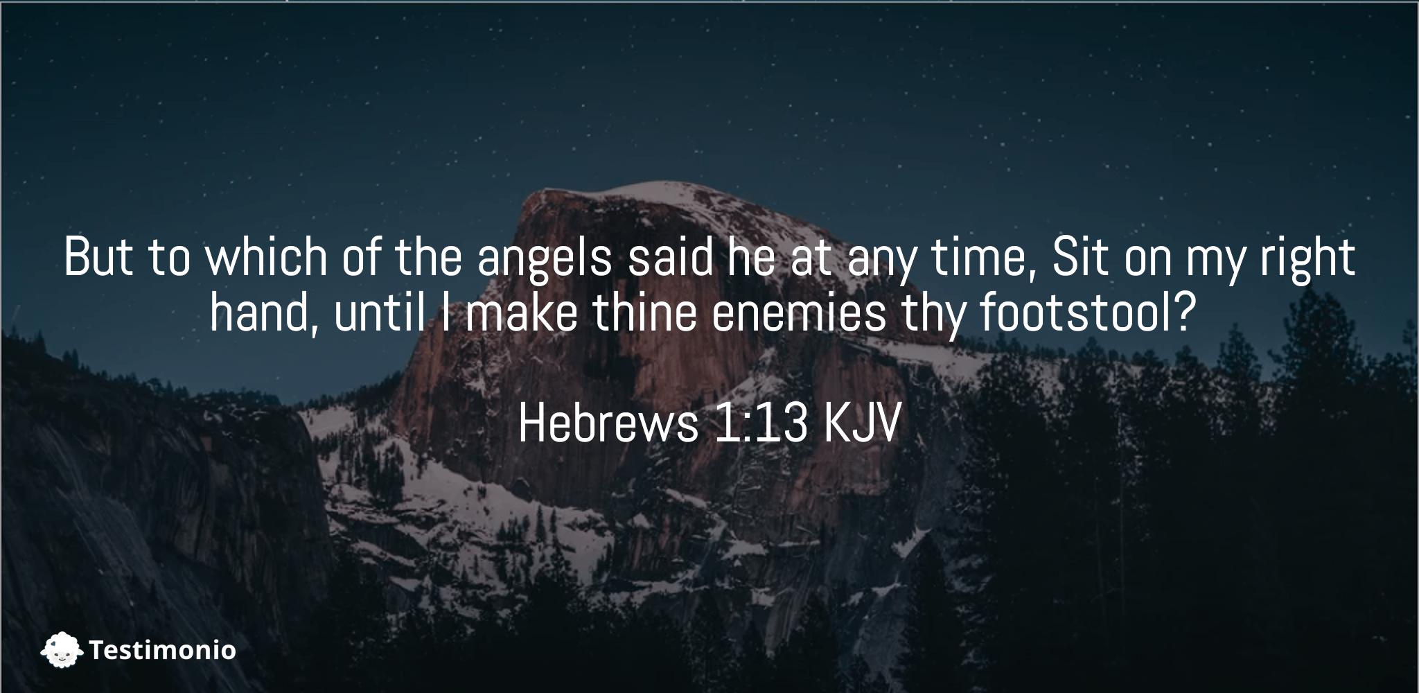 Hebrews 1:13