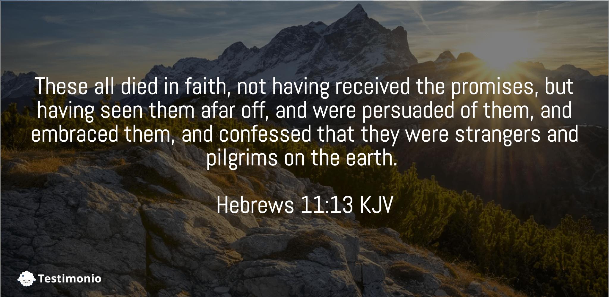 Hebrews 11:13