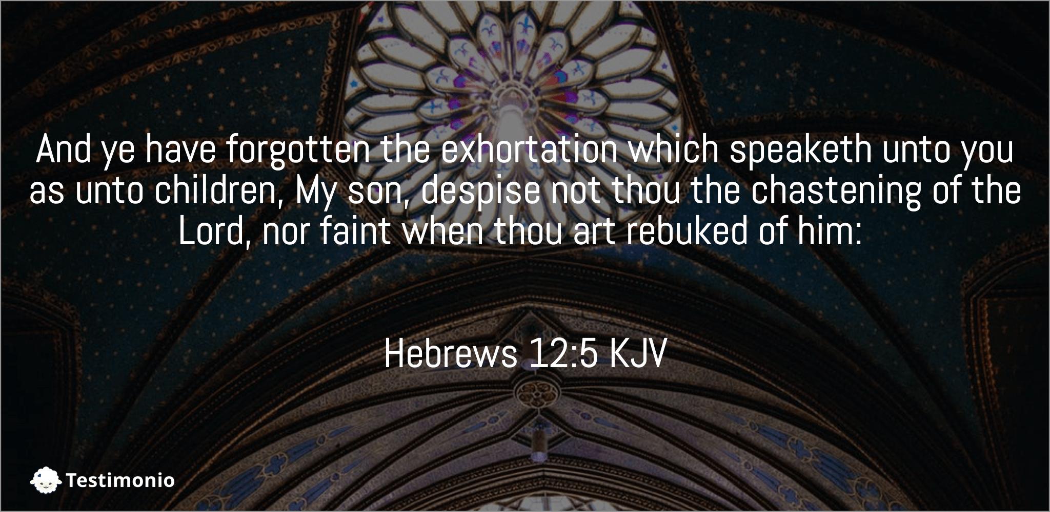 Hebrews 12:5