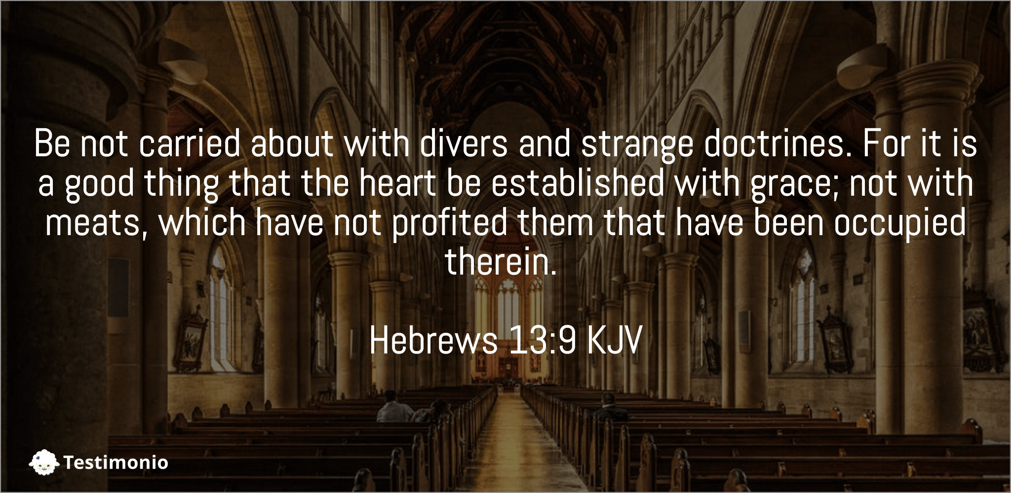 Hebrews 13:9