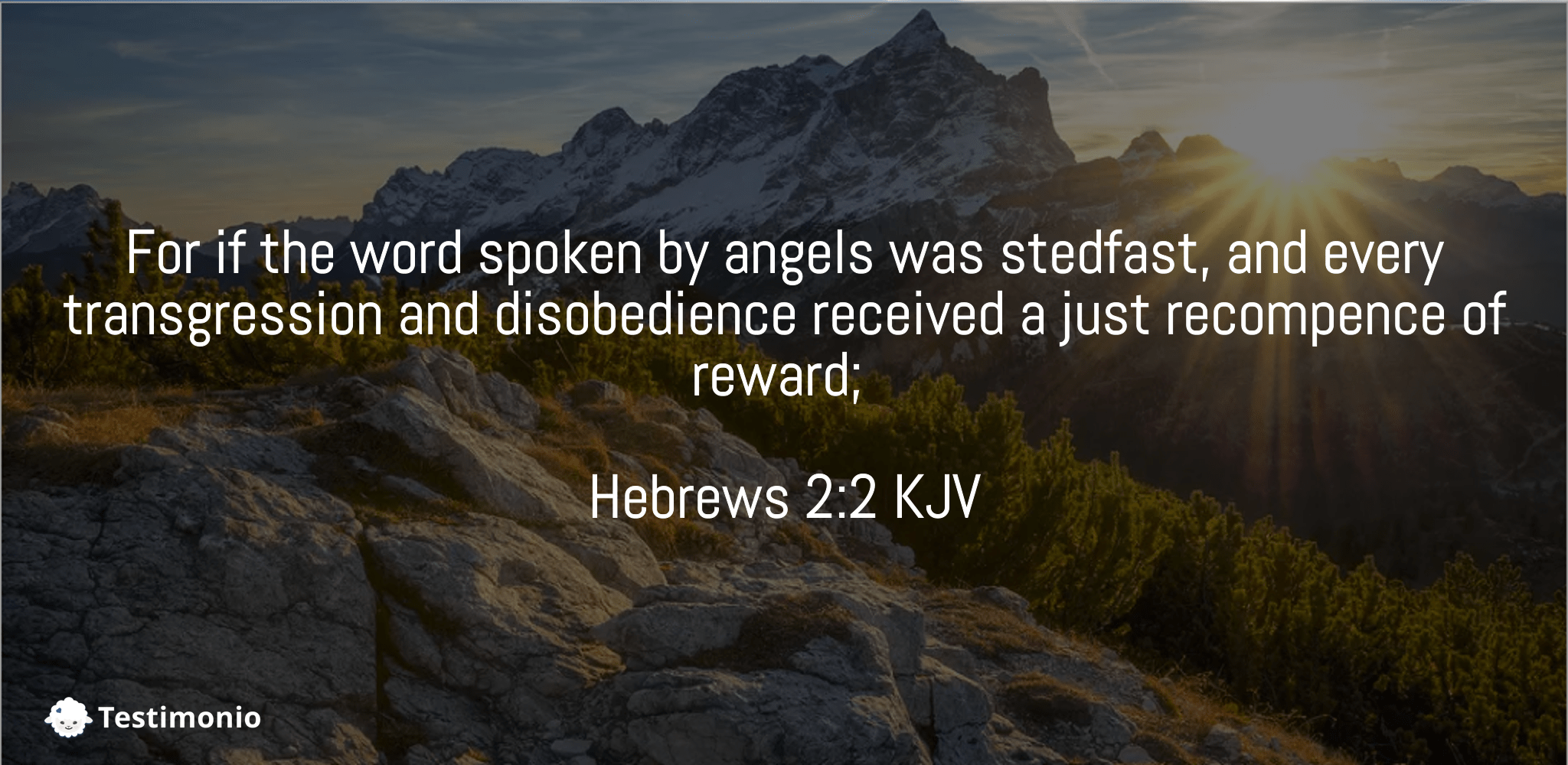 Hebrews 2:2