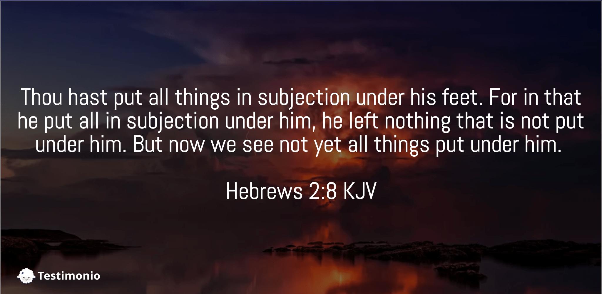 Hebrews 2:8