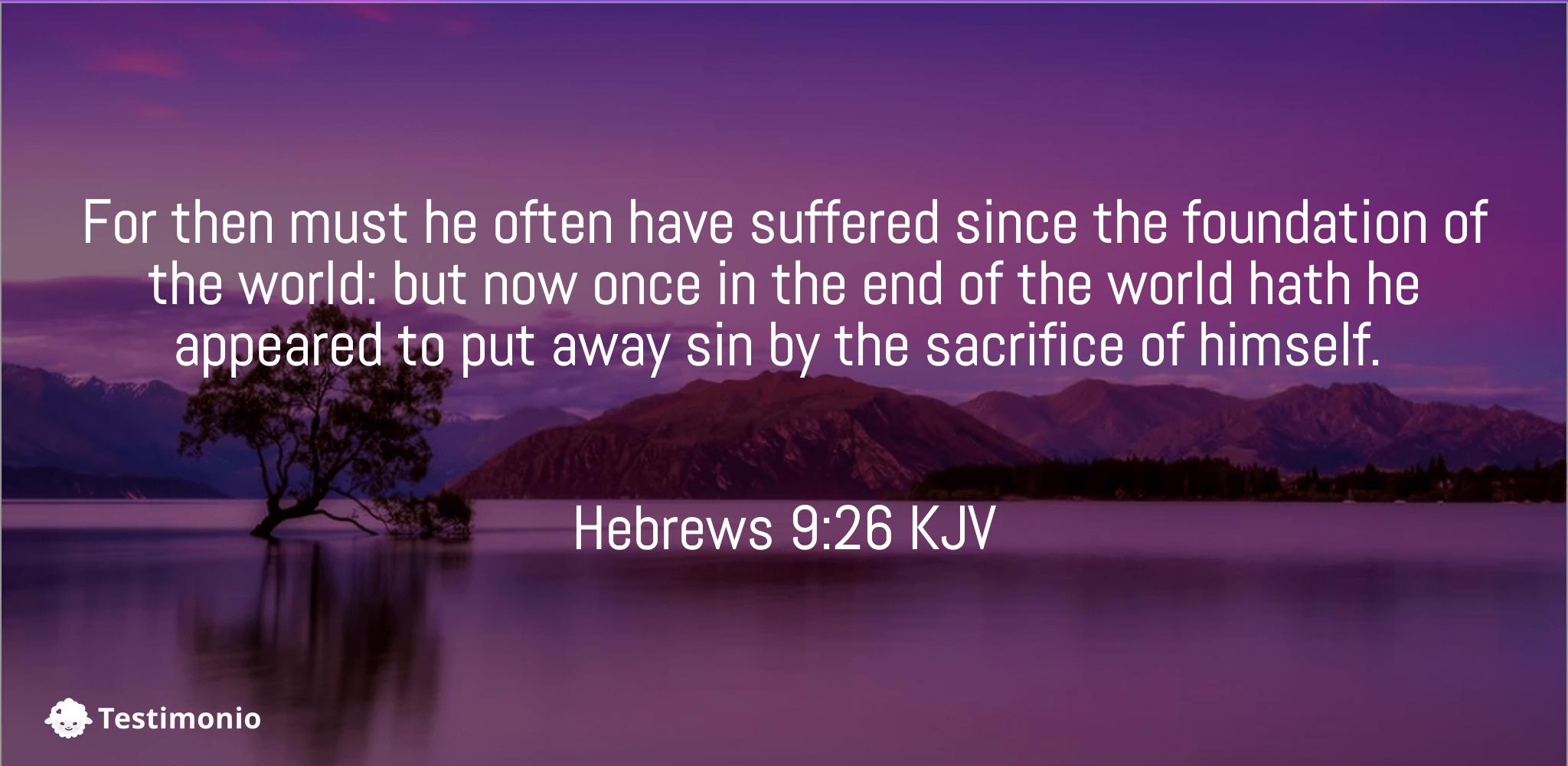 Hebrews 9:26