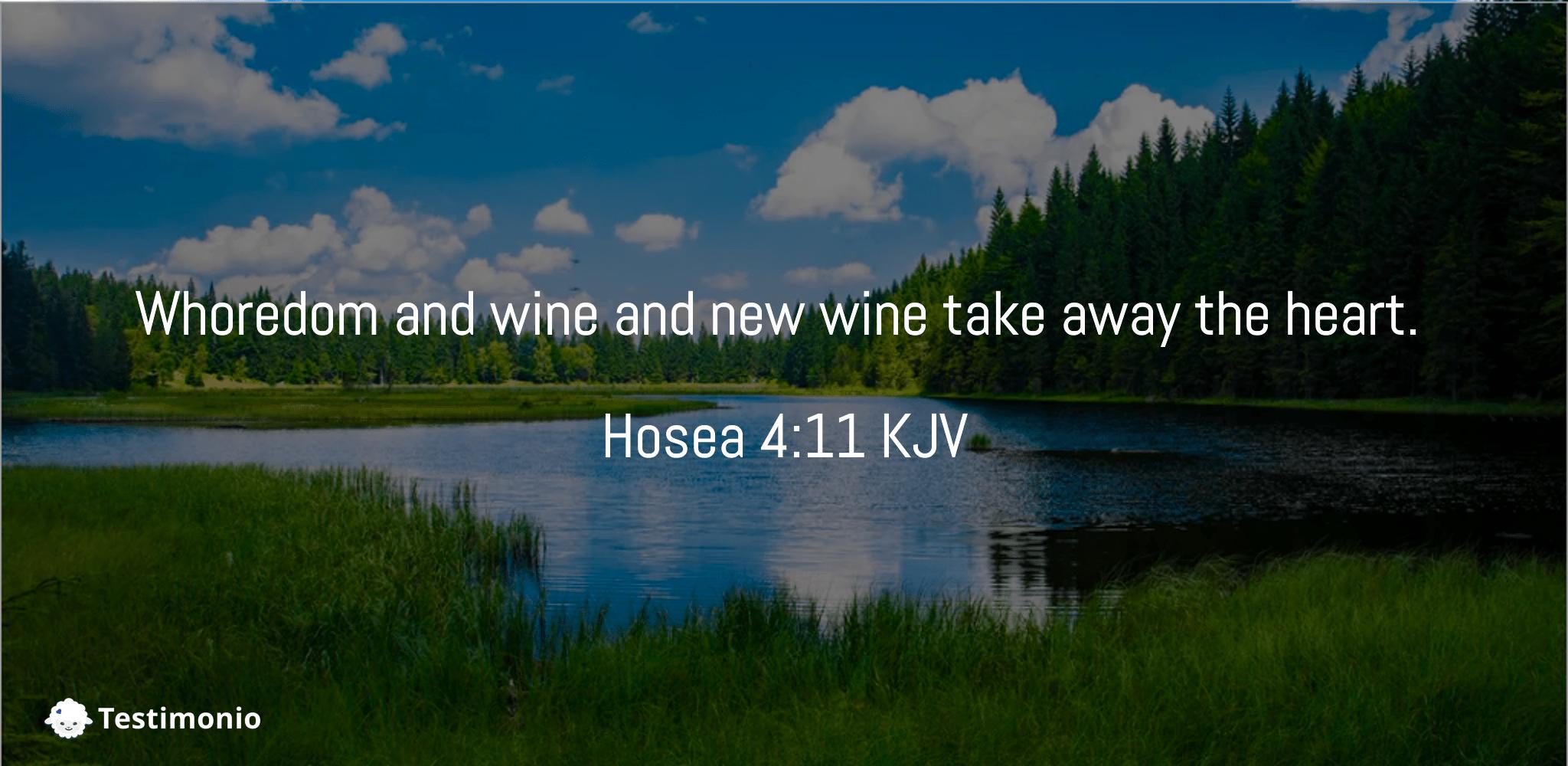Hosea 4:11