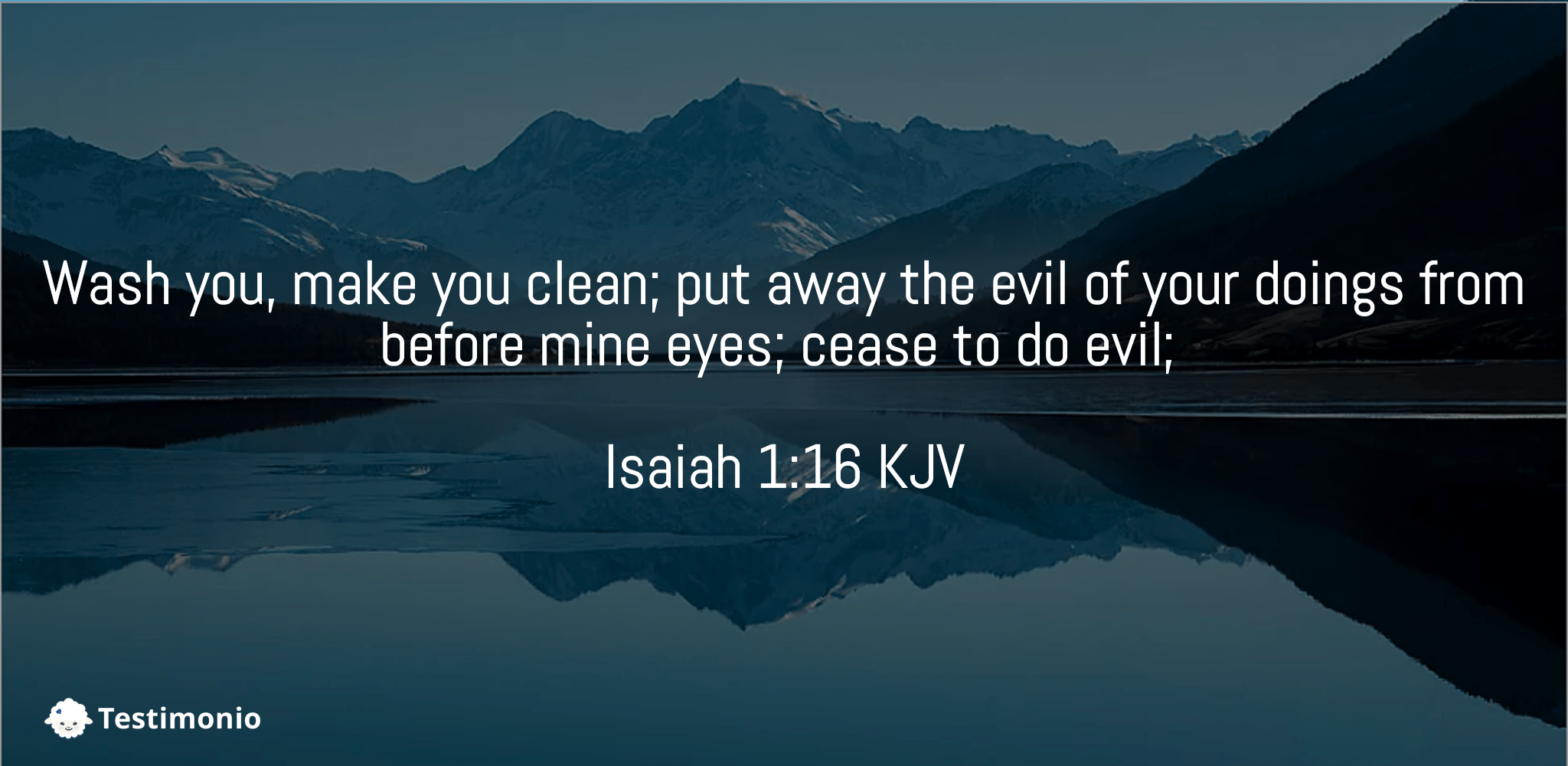 Isaiah 1:16