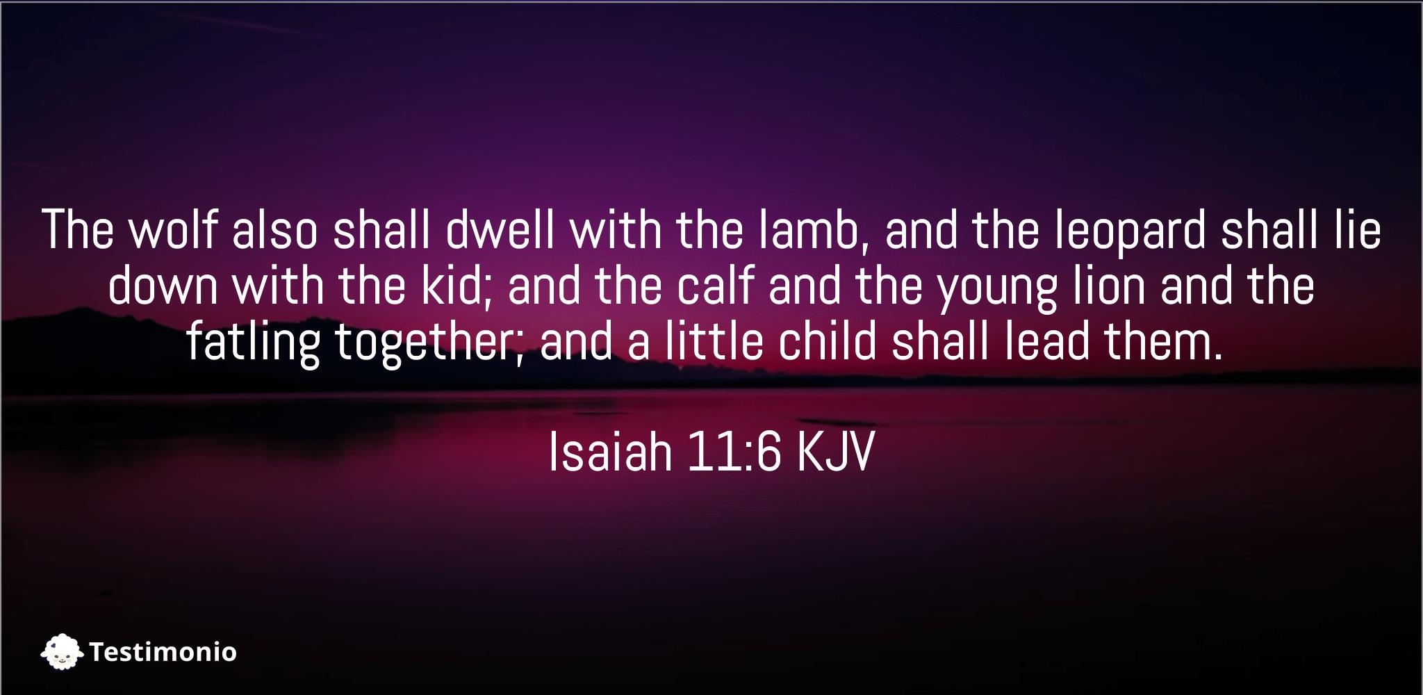 Isaiah 11:6