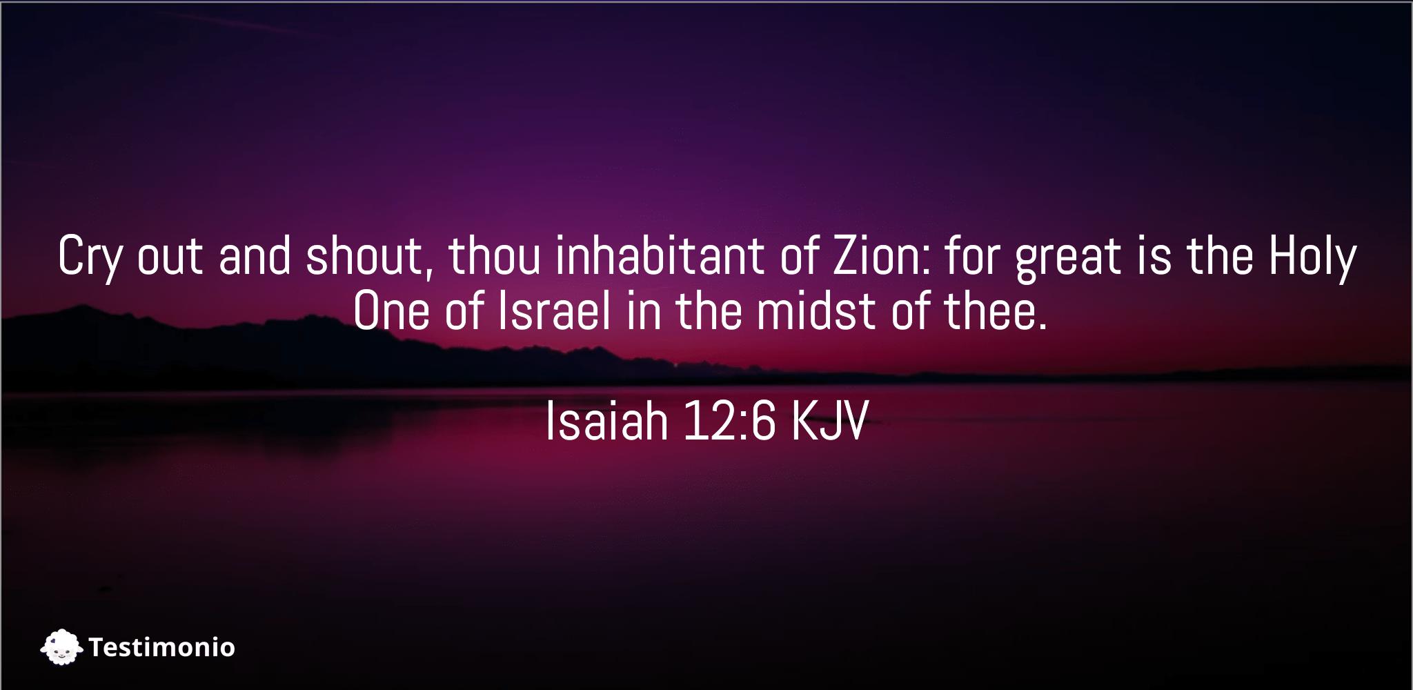 Isaiah 12:6