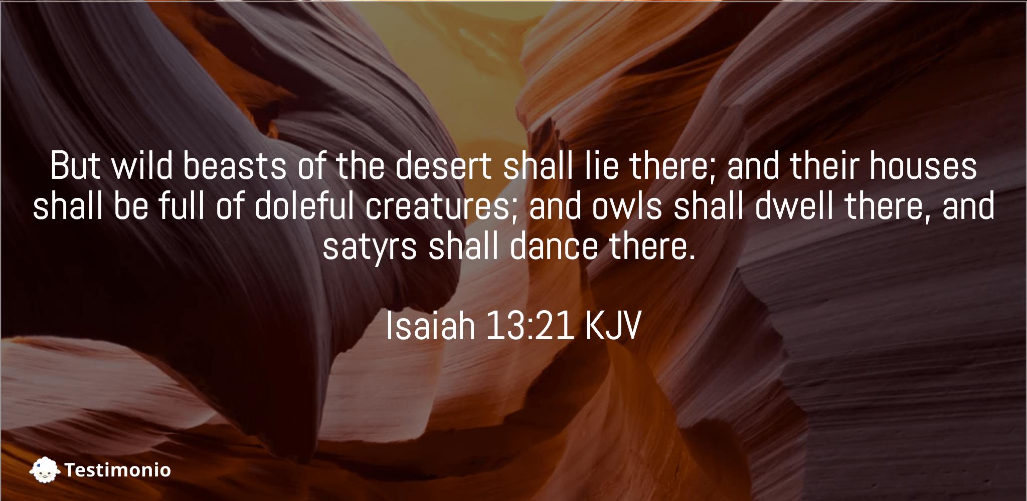 Isaiah 13:21