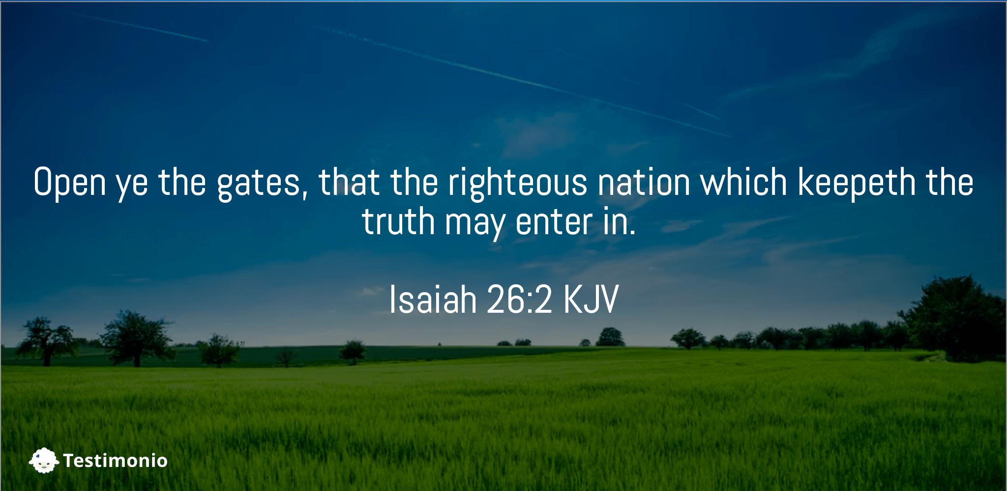 Isaiah 26:2