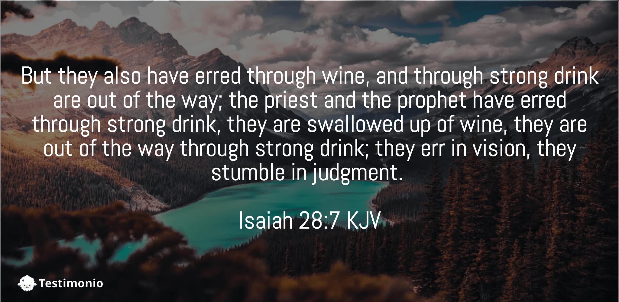 Isaiah 28:7