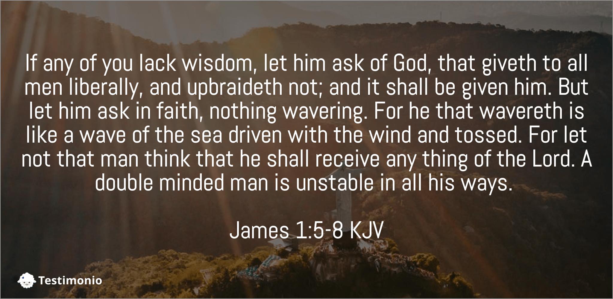 James 1:5-8