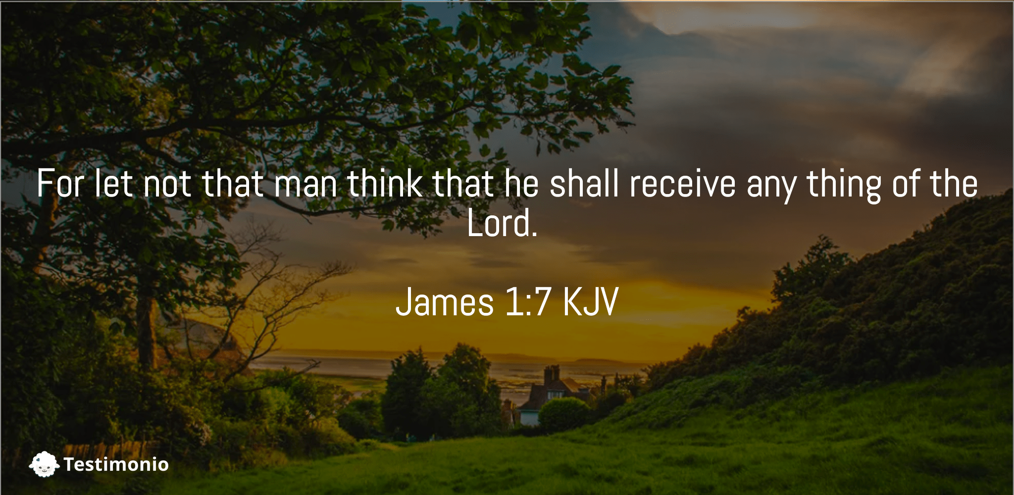 James 1:7