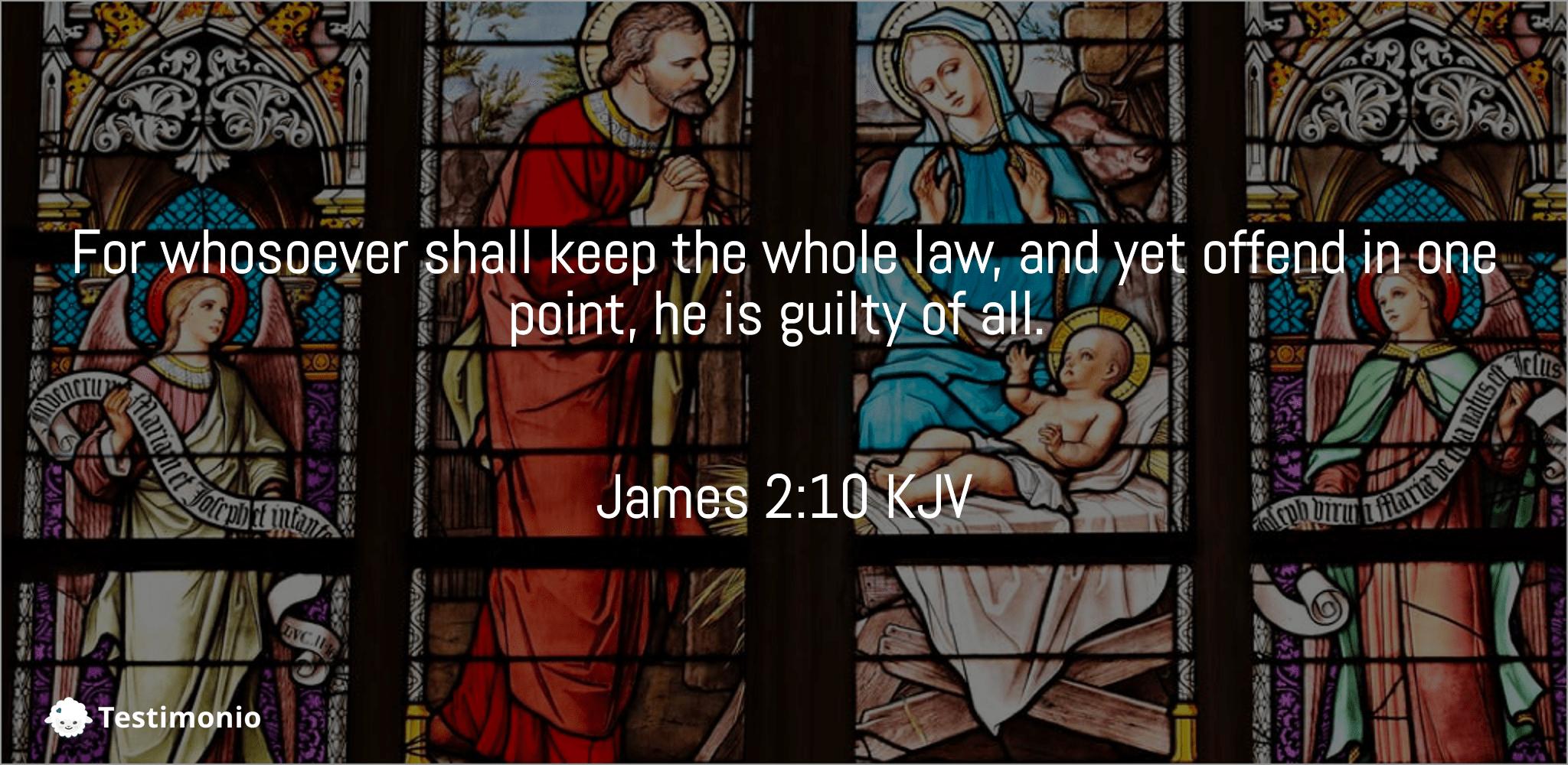 James 2:10