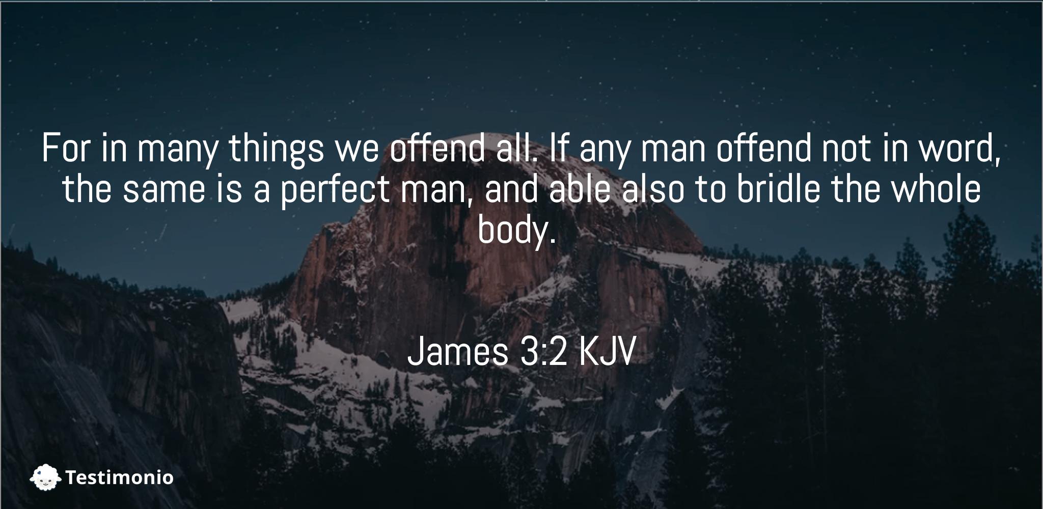 James 3:2