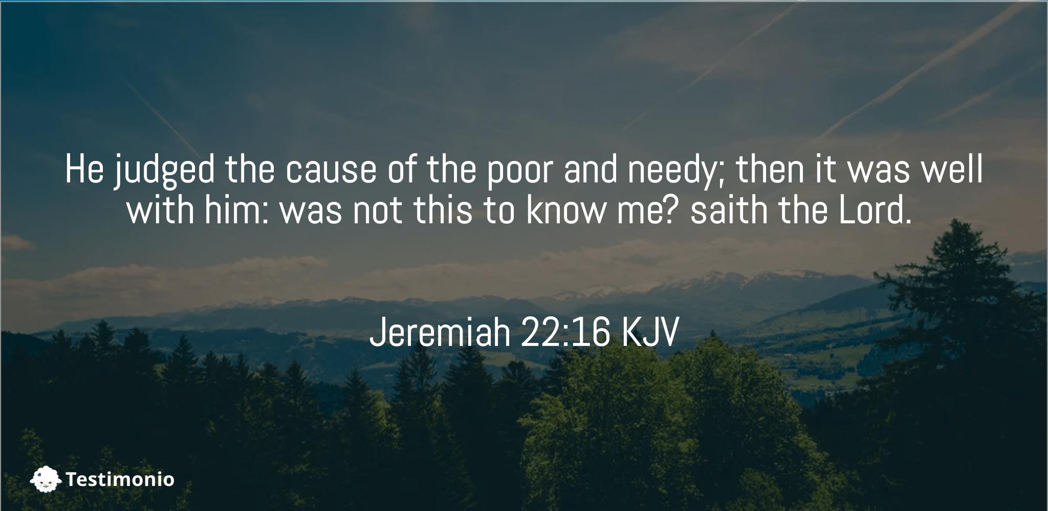 Jeremiah 22:16