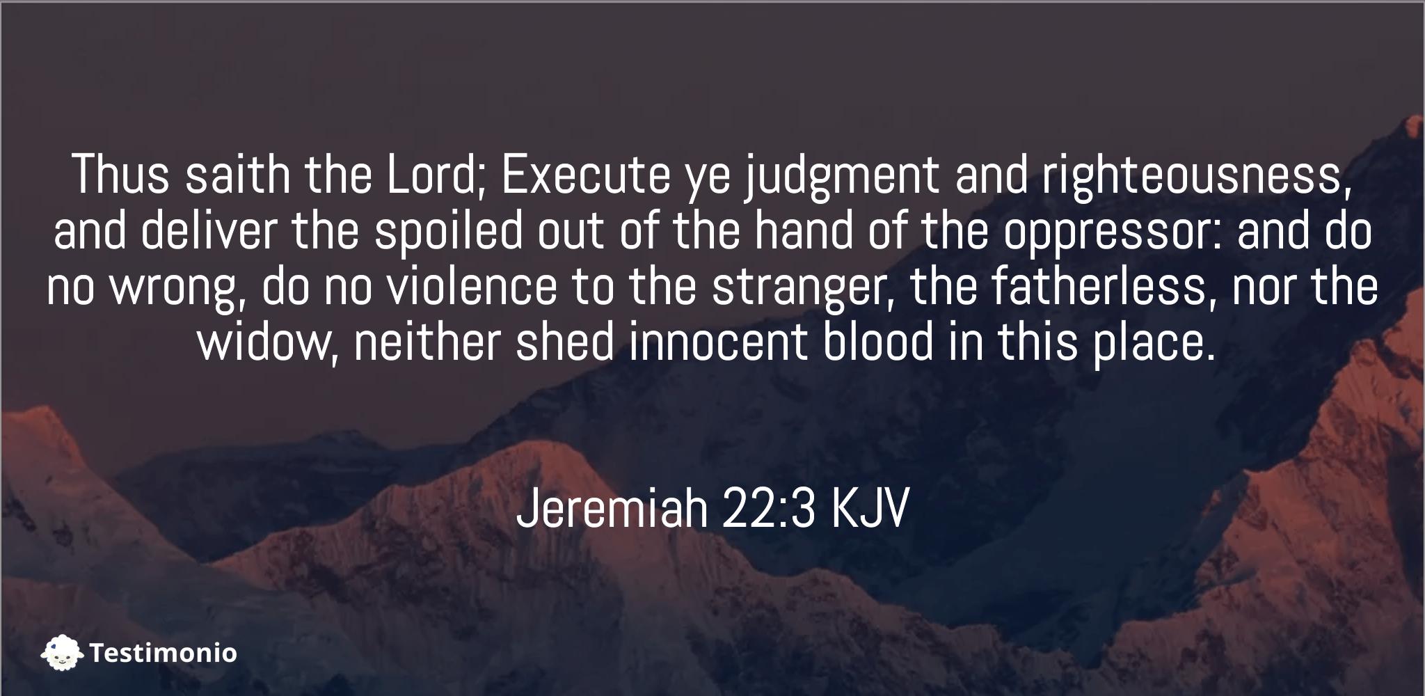 Jeremiah 22:3