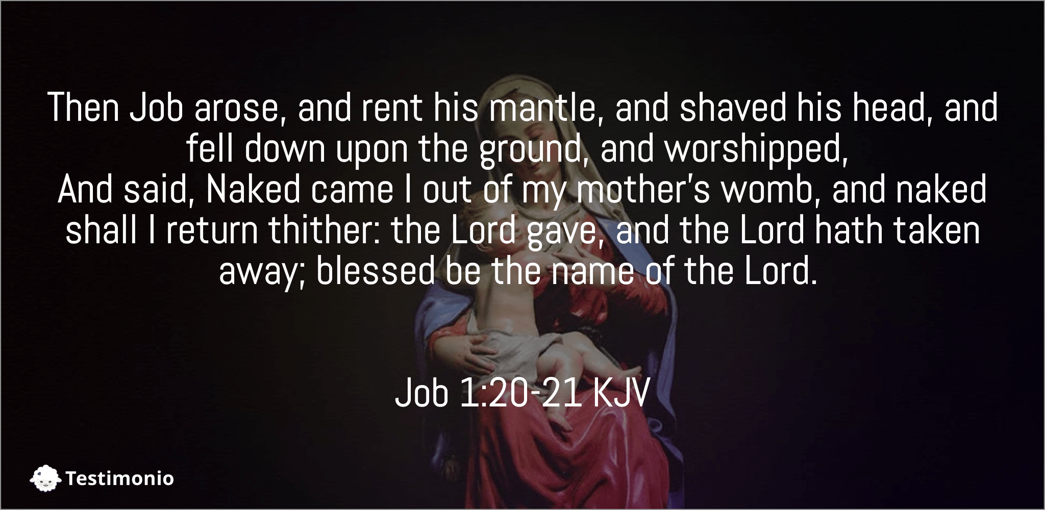 Job 1:20-21